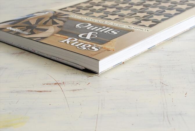 フランス語 キルト&ラグ 型紙付き 書籍 Quilts&Rugs 図録 図案 洋書 ディスプレイ 古書