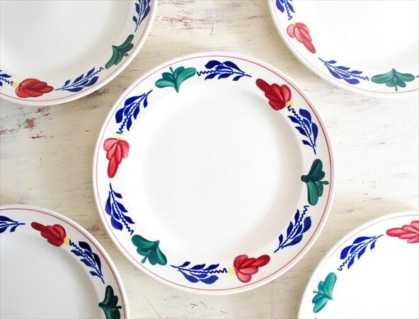 ベルギー製 BOCH ボッホ BOERENBONT 21cm プレート 磁器 陶器 アンティーク お皿